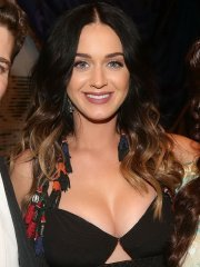 Katy Perry shows off her huge boobs in a low cut dress at 'Finding Neverland' on Broadway in NYC