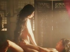 Min Sun Kim's nude body is bathed in light as she gets fucked softly on screen