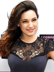 Kelly Brook busty wearing a partially see thru dress for the Lorraine's High Street Fashion Awards