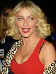 Julianne Hough bra pic in tight red mini dress while arriving at the Casa Tequila Halloween party in Beverly Hills