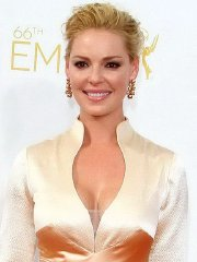 Katherine Heigl showing huge cleavage at the 66th Annual Primetime Emmy Awards in LA