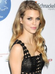 AnnaLynne McCord braless wearing a partially see through dress at the UN Women for Peace Association International Women's Day Celebration in NYC