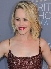 Rachel McAdams braless wearing see-through mesh dress at 21st Annual Critic's Choice Awards in Santa Monica