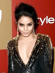 Vanessa Hudgens with her hot friends shows huge cleavage at Warner Bros InStyle Golden Globes party