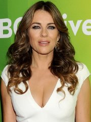Elizabeth Hurley showing huge cleavage at the 2015 NBCUniversal Press Tour Day 1 in Pasadena