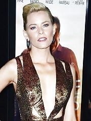 Elizabeth Banks showing huge cleavage in low cut shiny mini dress at People Like Us premiere in LA