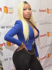 Nicki Minaj showing off her boobs & booty in LA