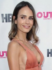 Jordana Brewster flashing side-boob in sexy orange dress at the Outfest Film Festival opening in LA