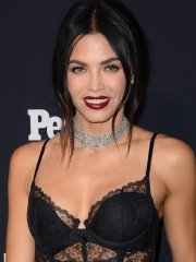 Jenna Dewan busty in black transparent top and pants for Entertainment Weekly and People Upfront Party in NYC