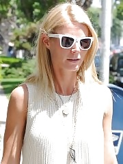Gwyneth Paltrow leggy in mini dress leaving a restaurant in West Hollywood