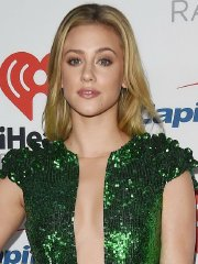 Lili Reinhart braless showing huge cleavage & legs at iHeartRadio Music Festival in Las Vegas