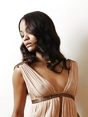 Zoe Saldana see through & showing side boob for Nino Munoz photoshoot