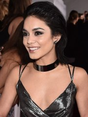 Vanessa Hudgens cleavy and leggy wearing skimpy shiny dress for 2016 People's Choice Awards at Microsoft Theater in LA