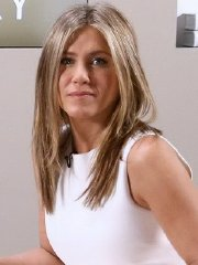 Jennifer Aniston upskirt in white mini dress while hosting the Actors On Actors in LA