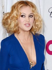 Paulina Rubio braless showing pokies and cleavage at the 22nd Elton John AIDS Foundation Academy Awards Viewing Party in West Hollywood