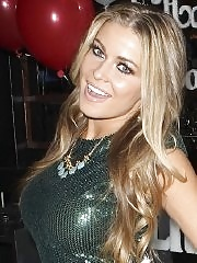 Busty babe Carmen Electra looking very hot in tight short dress while celebrate her bithday