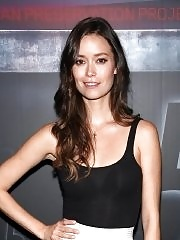 Summer Glau see-through to bra at the Comic Con event in NYC