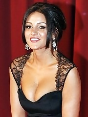 Michelle Keegan showing huge cleavage at the 'Irish Film & Television Awards' in Dublin
