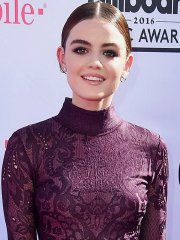 Lucy Hale looks hot in bodysuit & sheer lace mini skirt for 2016 Billboard Music Awards