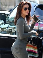 Eva Longoria shows off her ass in tight dress leaving Ken Paves Salon in West Hollywood