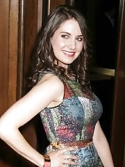 Alison Brie leggy wearing very short dress at 'The Decision' premiere in NYC