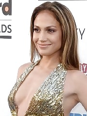 Jennifer Lopez showing huge cleavage at the 2013 Billboard Music Awards in Las Vegas