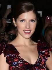 Anna Kendrick cleavy and leggy wearing flower print top and mini skirt at The Voices premiere in Toronto
