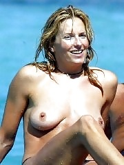 Penny Lancaster topless and tit sucked by Rod