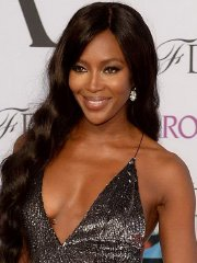 Naomi Campbell showing cleavage at the 2014 CFDA Fashion Awards in NYC