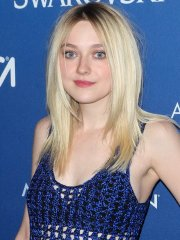 Dakota Fanning cleavy and see-thru to lingerie at 18th Annual Accessories Council ACE Awards in NYC
